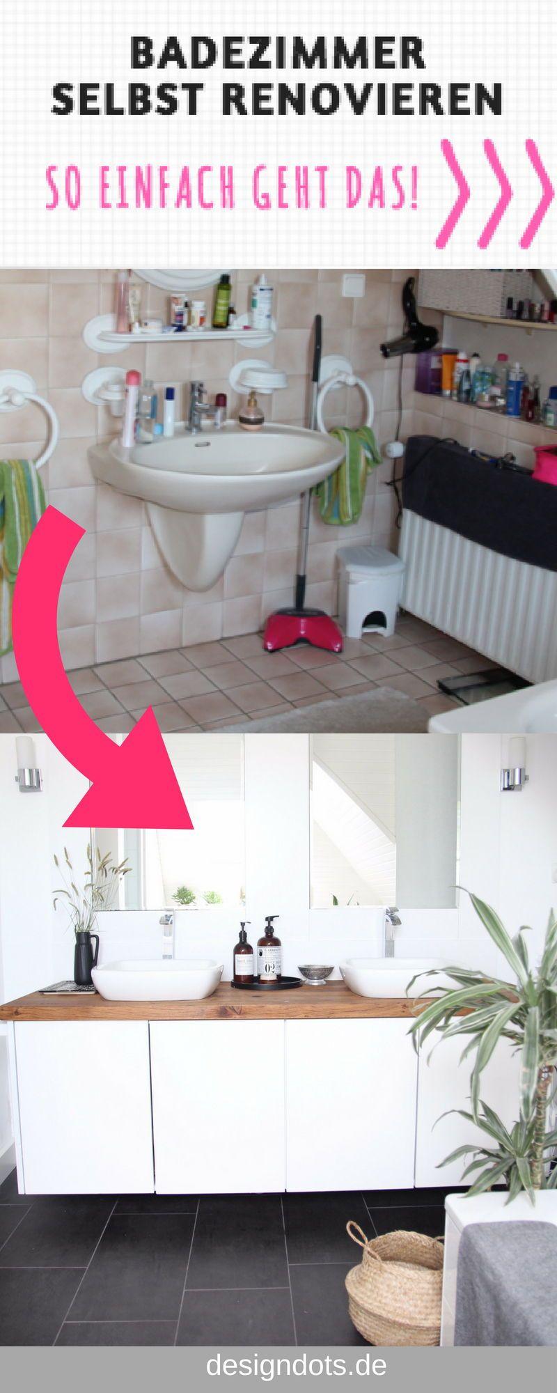 Badezimmer selbst renovieren | Interior Design Love ...