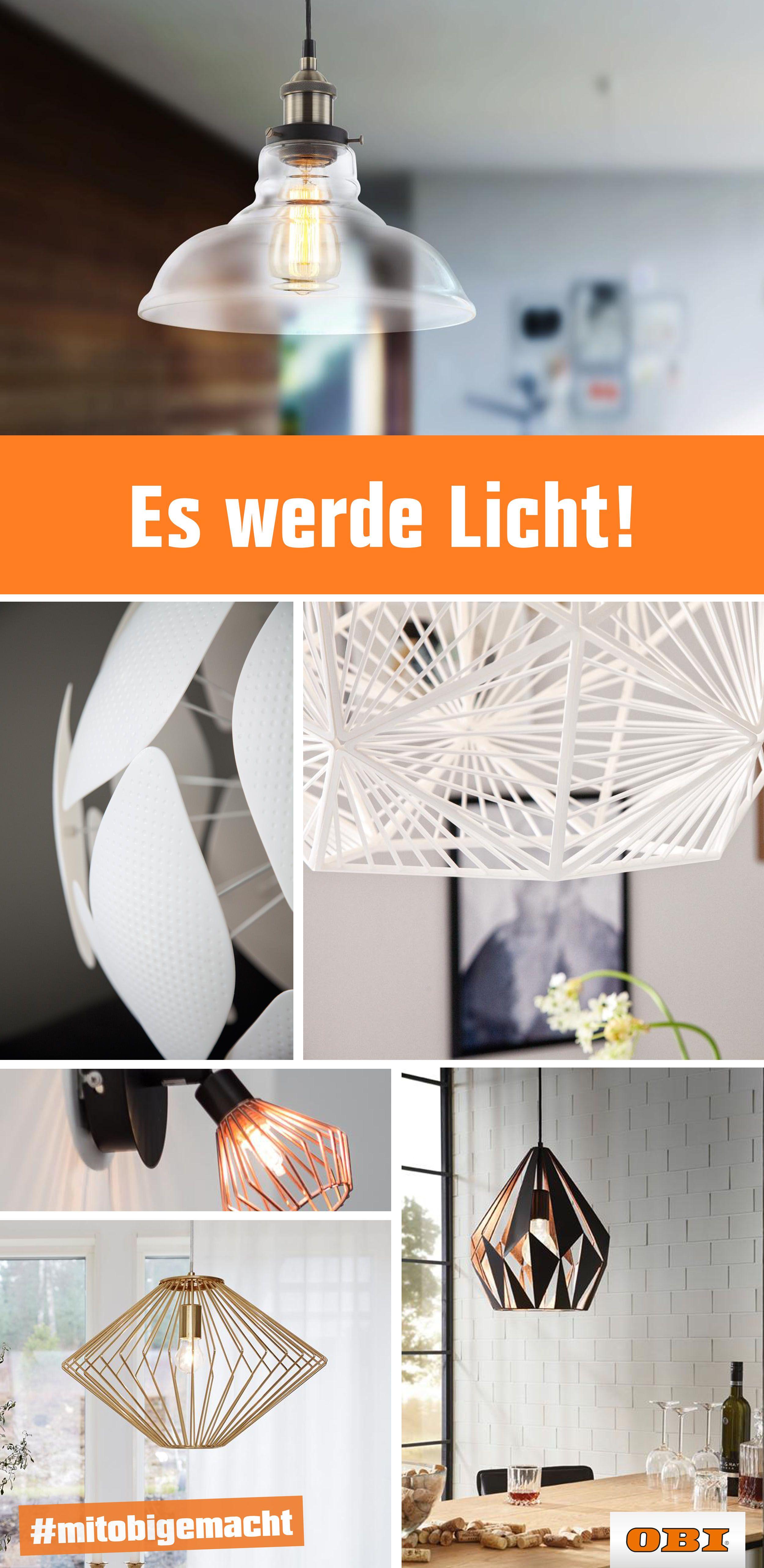 Moderne Lampen & Design Leuchten bei | OBI Lights On! in ...