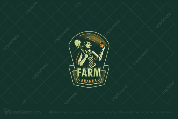 Farmer Logo in 2020 Logo food, Logos, Cartoon logo