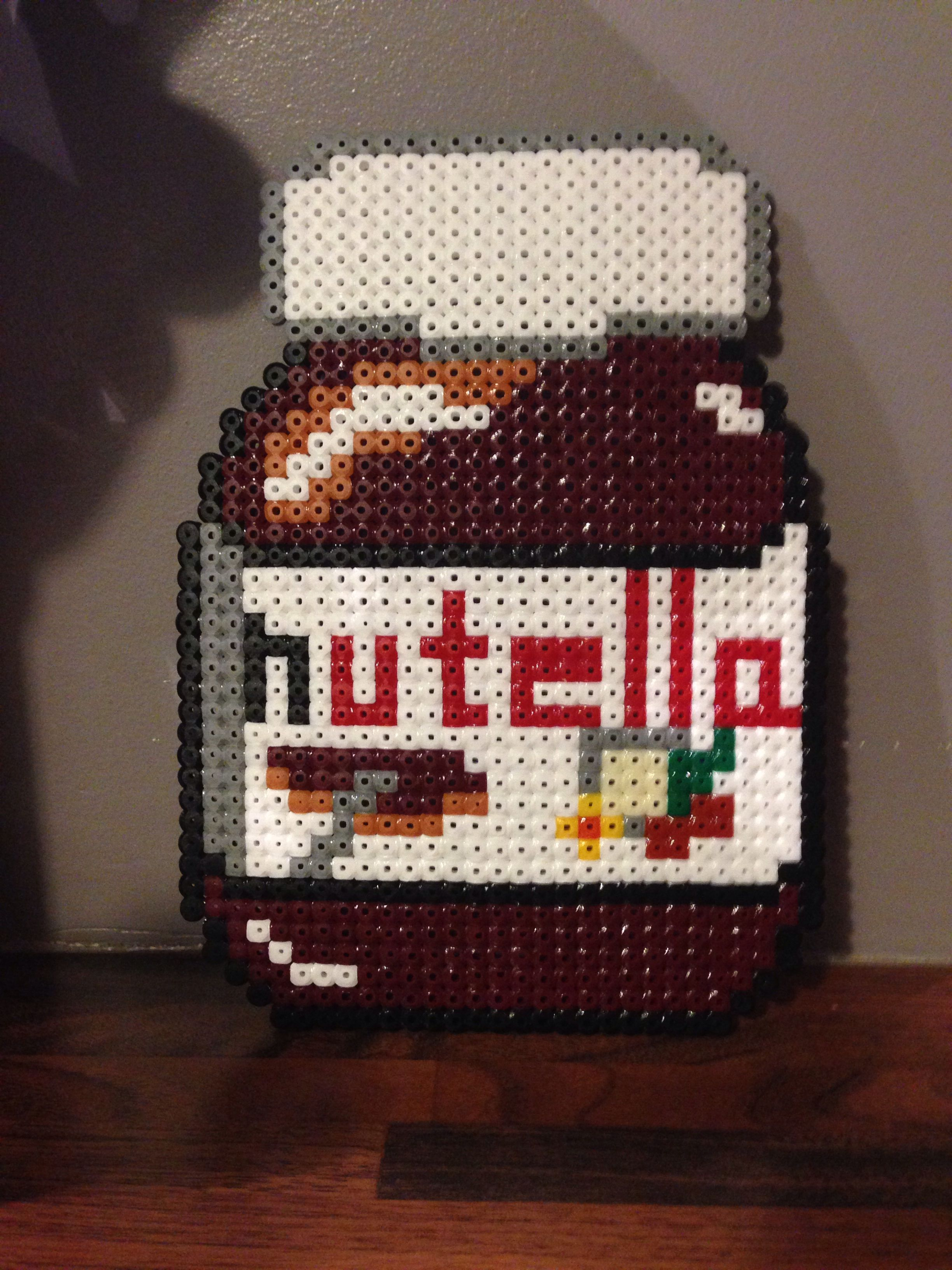 Art Pixel Art Pot De Nutella Kawaii