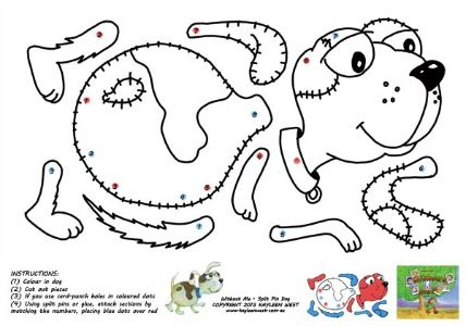 Dog Crafts Ideas....a puppy craft download for when a quick and easy project is needed.