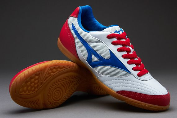 b7b6e2c5df0b Mizuno Football Boots - Mizuno Sala Club IN Boots - Indoor - Soccer Cleats  - Pearl-Blue-Red