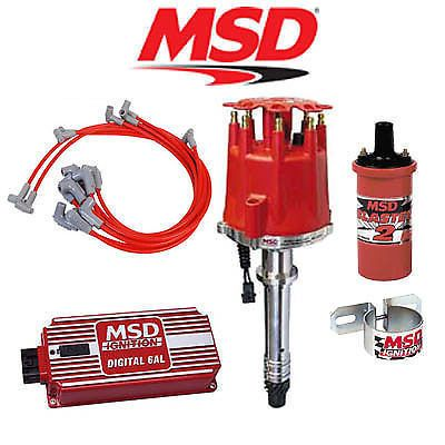 Msd Complete Ignition Kit Digital Distributor Wires Coil Bracket Sbc Ignition Coil Car Parts And Accessories Msd