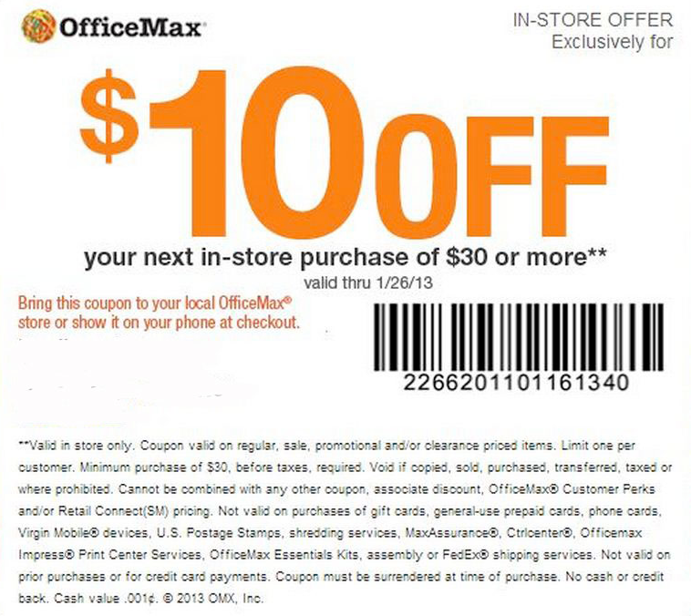 office max 10 off 30 printable coupon