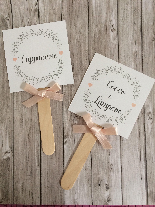 6 Palette Gusti Confetti Personalizzabile Country Shabby Chic Etsy Country Chic Wedding Wedding Wedding Stationery