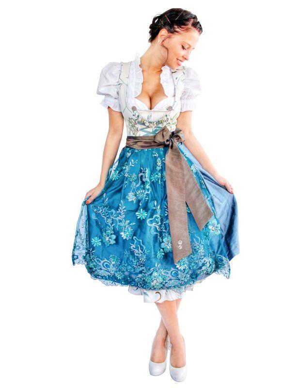 Astrid Söll Trachten Dirndl creme-blau