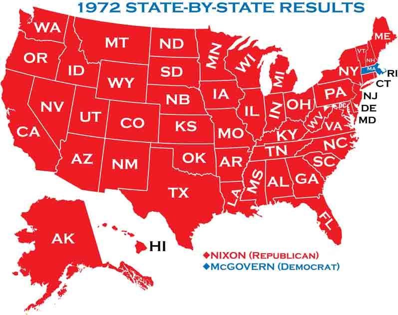 1972 presidential election - Google Search | president ... on google maps louisiana political, democrat vs republican states map, google poll,