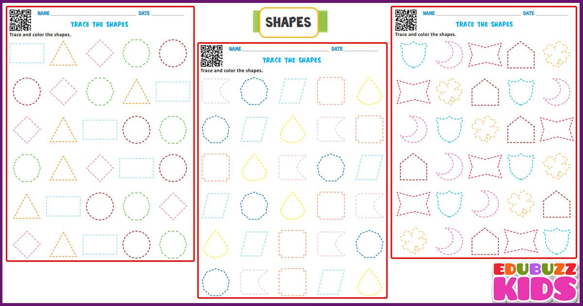 Math Tracing Shapes Worksheets For The Kids Of Kindergarten With Common Core Standards Shapes Worksheet Kindergarten Kindergarten Worksheets Shapes Worksheets