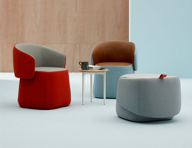 Tiny furniture top soft seating stools fauteuille for Meuble bureau haworth