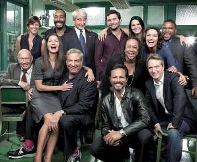 Law Order Cast Including Sam Waterston Ada Mccoy S Epatha