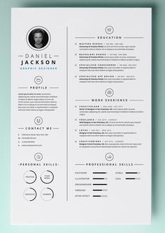 Resume Word Template Free 30 Resume Templates For Mac  Free Word Documents Download