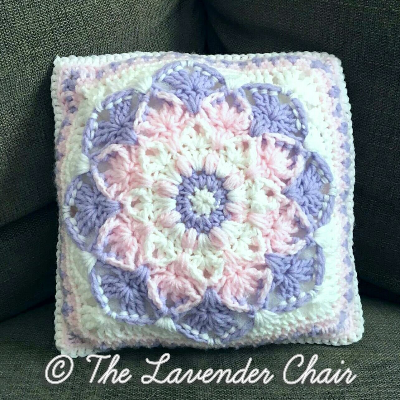 Kaleidoscope Lily Pillow - free crochet pattern - The Lavender Chair ...