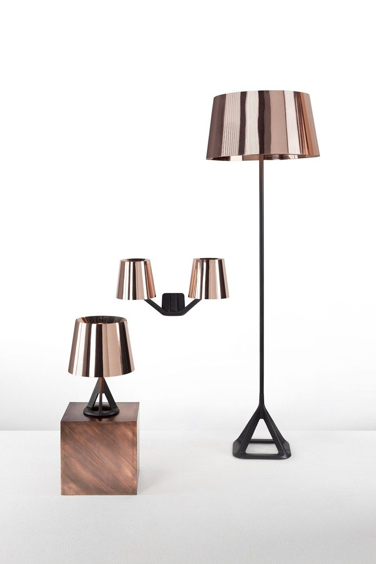 Copper Table Lamp Base Copper Table Light By Tom Dixon Design Tom Dixon Kupfer Beleuchtung Wandleuchte Kupfer Einrichtung