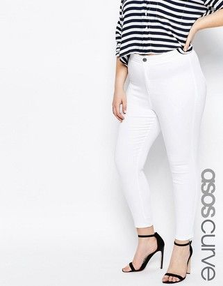 3033e9fdc9a ASOS CURVE Rivington Jeggings in White  plus  jeans