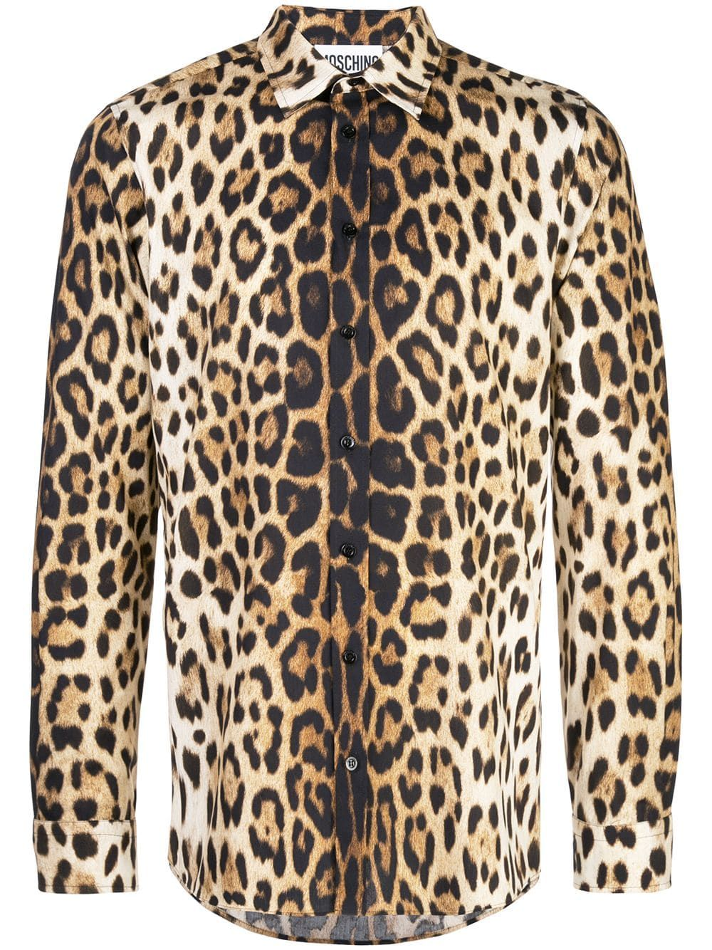f16f3805f458ad MOSCHINO MOSCHINO LEOPARD PRINT SHIRT - ORANGE.  moschino  cloth ...