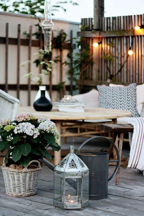 déco scandinave terrasse extérieure | Jardin,terrasse,patio ...