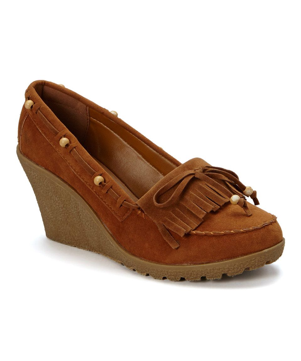 5d66da27d81 Shoes of Soul Tan Bead Wedge Moccasin by Shoes of Soul  zulily  zulilyfinds