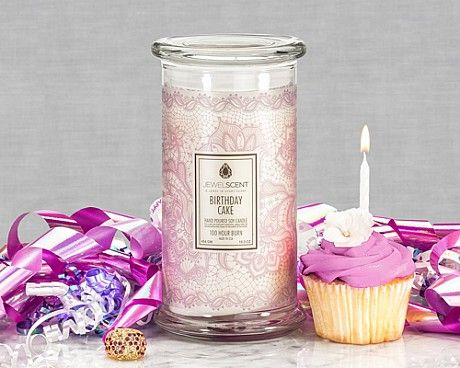 Birthday Cake Candle Indulge in the delicious aroma of decadent