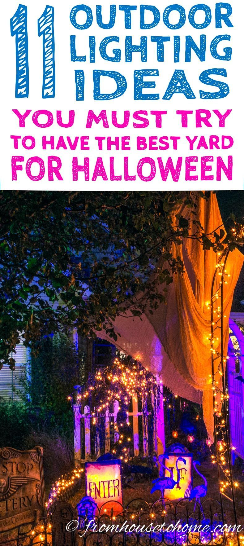 If you want some ways to make your yard haunt look spooky these