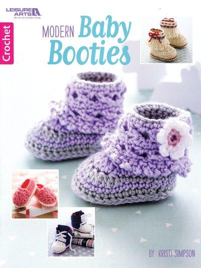 Modern Baby Booties Crochet Crafts Babyschoentjes Haken Kleding