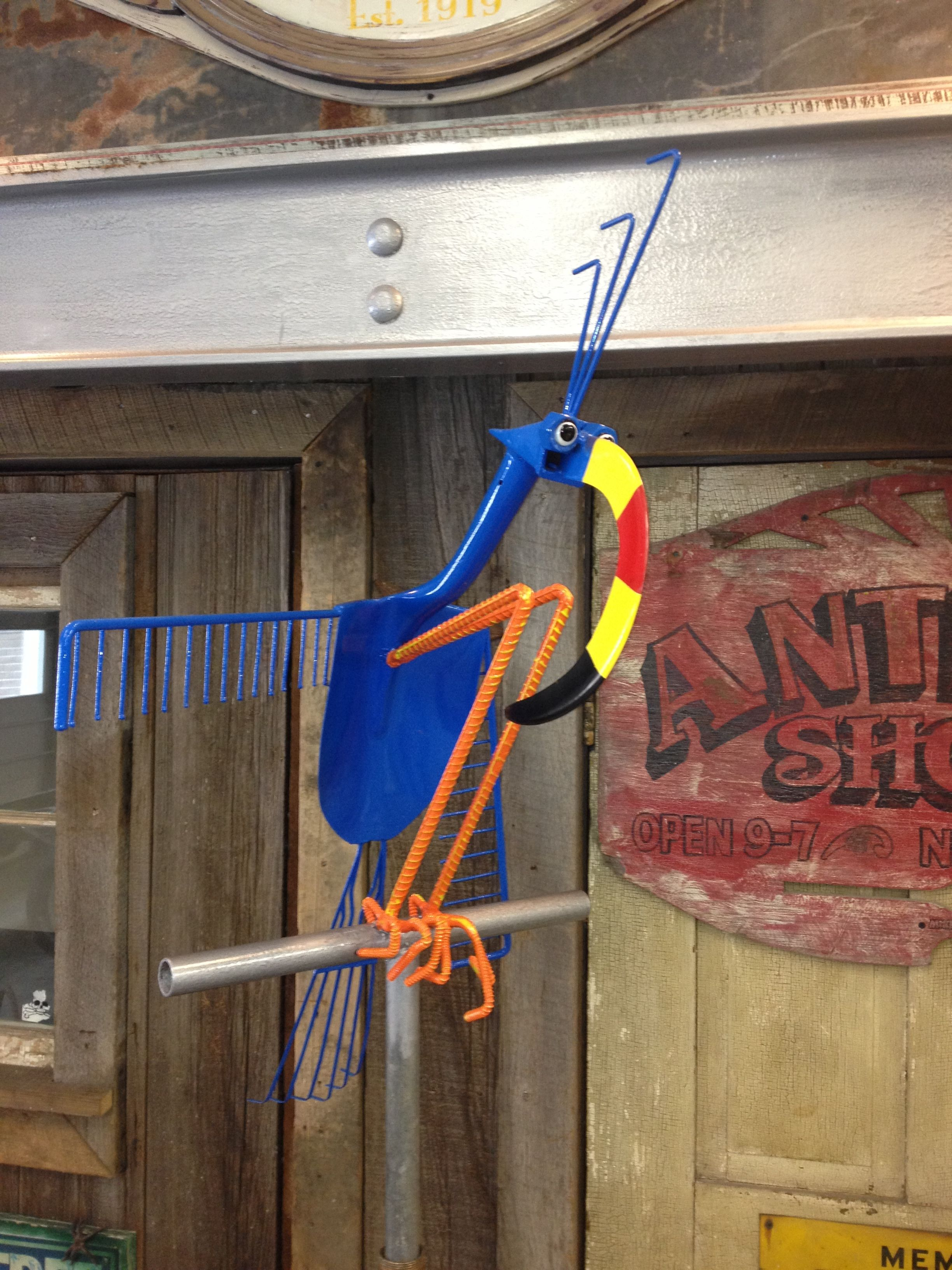 Built from vintage yard tools that were purchased at an ...