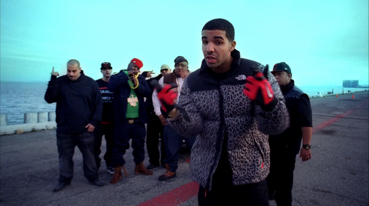Leopard Jacket Drake The Motto The North Face [ 717 x 1280 Pixel ]