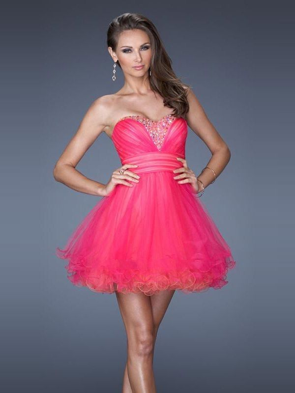 Wishesbridal Cute Red Sweetheart Short #Tulle A Line #Cocktail ...