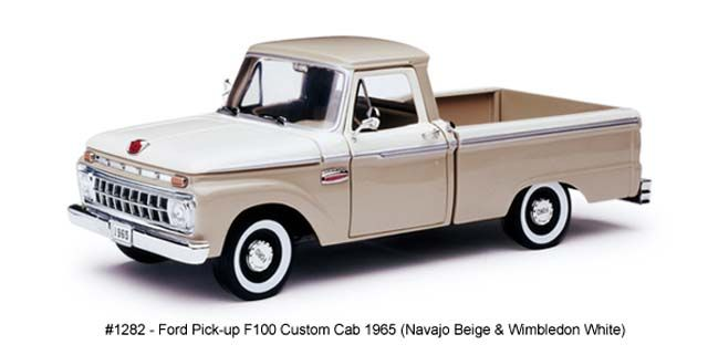 Wimbledon White Scale model 1:18  Ford F-100 Custom Cab Pickup Green 1966