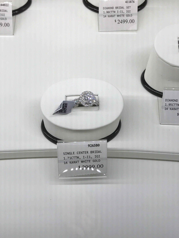 1 71 Carat Wedding Ring At Sams Club Diamond Bridal Ring Sets