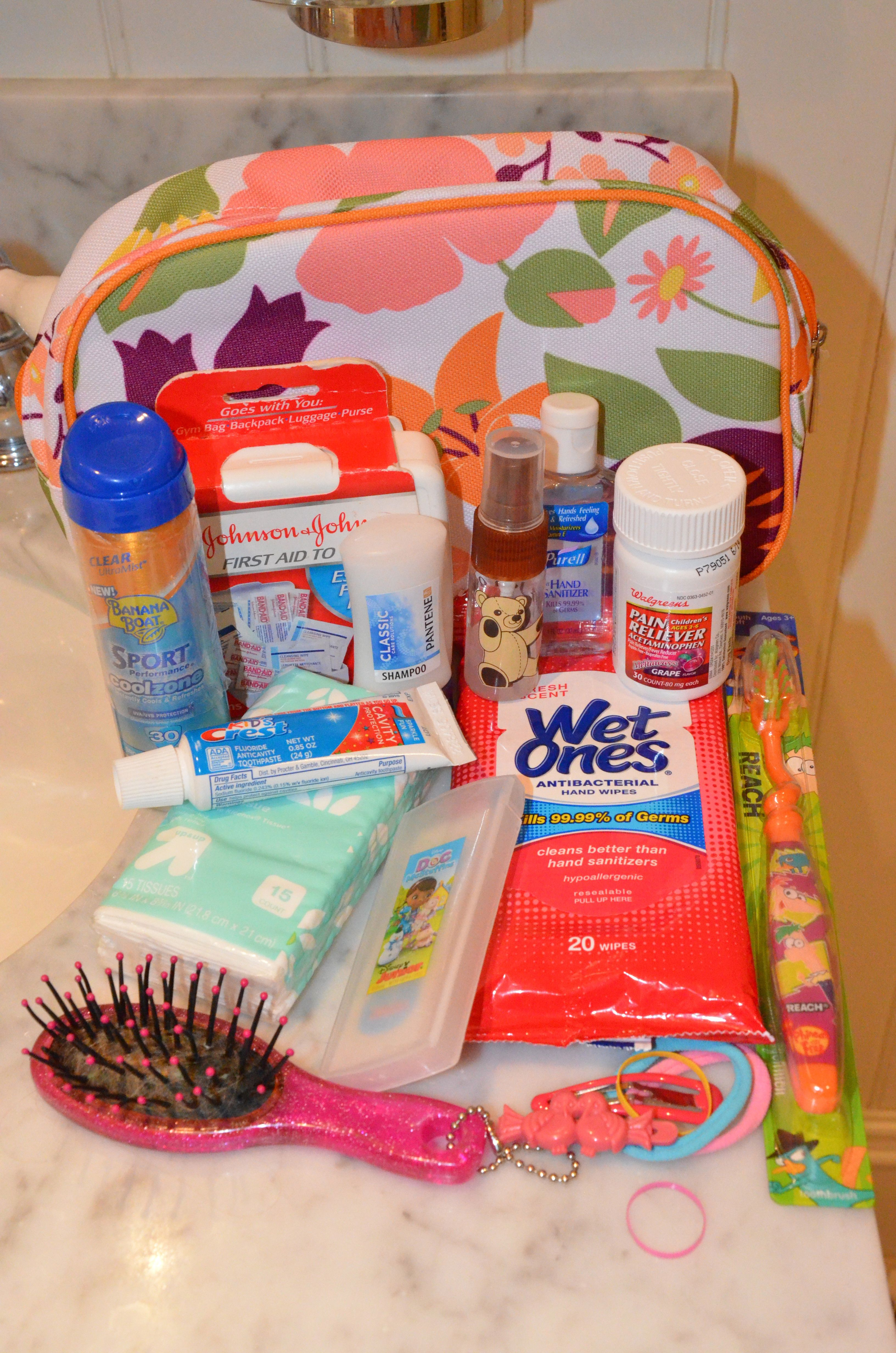 Pre Pack Your Child S Toiletry Kit Trips With Tykes Kid Travel Kit Toiletry Kit Toddler Travel