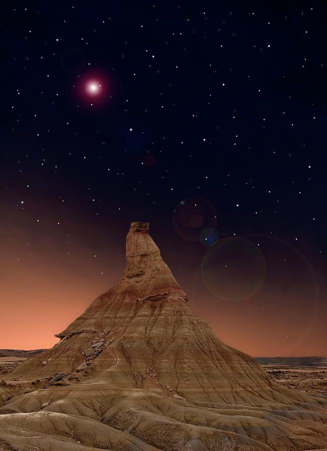 Desert Night Canvas Print Canvas Art By Inigo Cia Bardenas