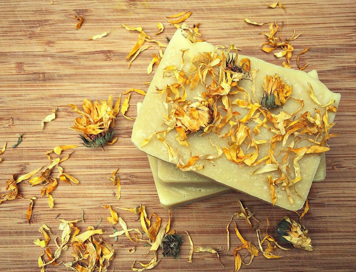 How to Make Soap For Beginners + Calendula Soap Recipe
