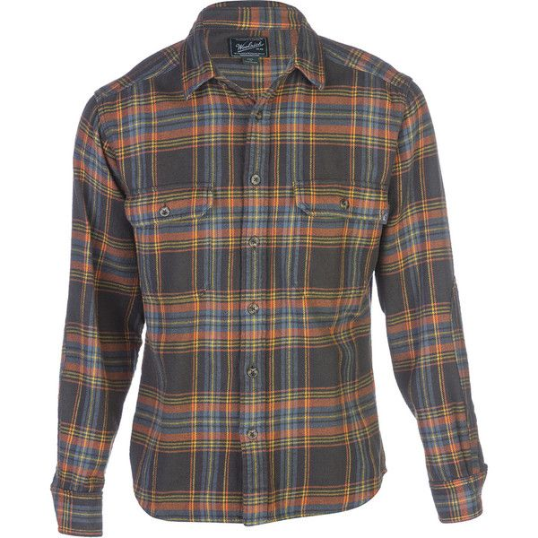 Woolrich Oxbow Bend Regular Fit Flannel Shirt - Long-Sleeve ($65) ❤ liked on Polyvore featuring men's fashion, men's clothing, men's shirts, men's casual shirts, mens flannel shirts, mens longsleeve shirts, woolrich mens shirts, mens long sleeve shirts and men's regular fit shirts
