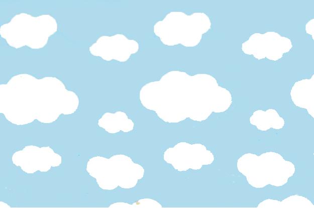 Tnt Estampado Nuvens 100x140cm Nuvem Fundo Nuvem E Imagens