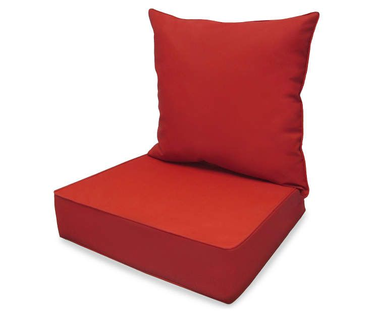 Patio Chair Cushions Big Lots Lane And Tall Office Red Deep Seat Back Cushion Set At Outdoor Living