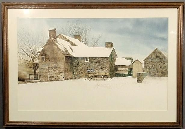 IMAGE: Peter Sculthorpe fine large watercolor painting of a ...