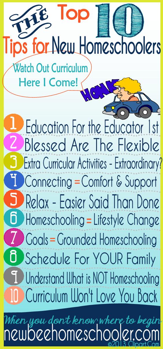 Top 10 Tips For New Homeschoolers How to Begin