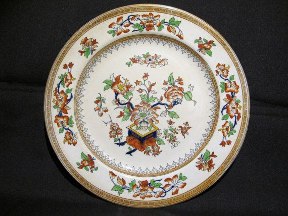 Antique 19th Century Singapore Export Porcelain Plate By Uaca 59 99 Porcelain Plates Plates Antiques