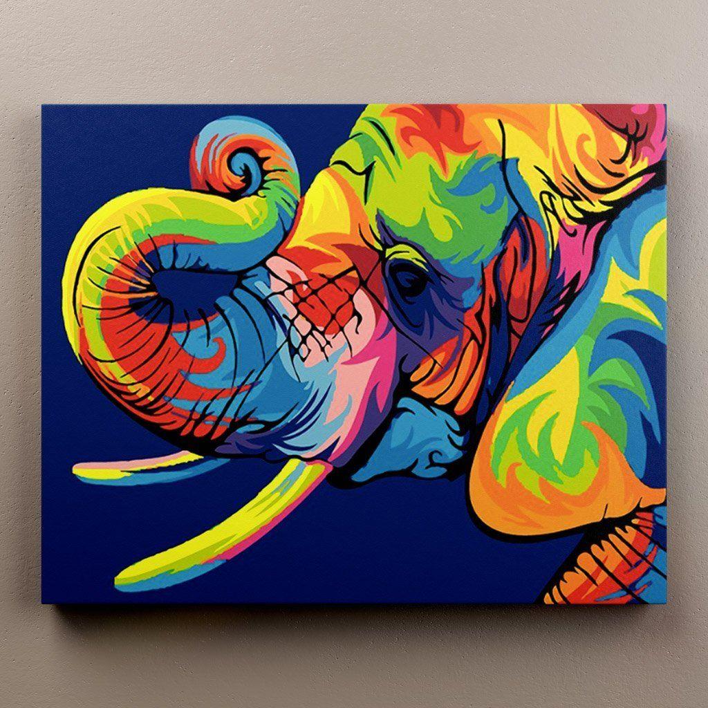 Abstract Elephant in 2020 | Elephant artwork, Animal ...