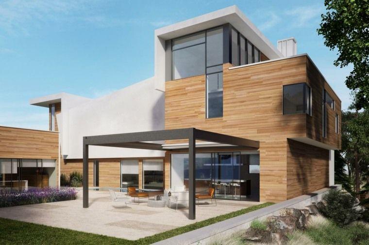 décoration d\u0027extérieur de maison avec pergolas pour terrasse