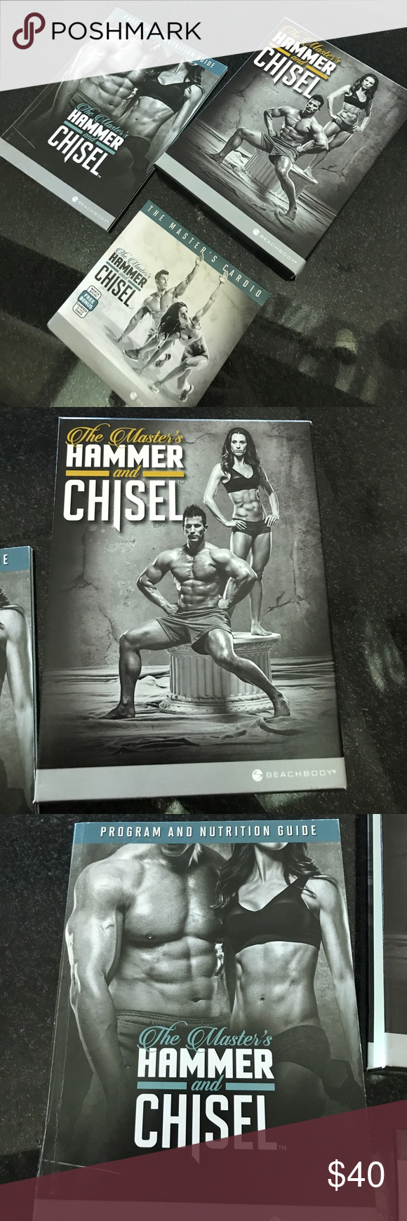 Beachbody Hammer and Chisel Includes entire set of 6 dvds plus bonus disc. Program/nutrition guide. beachbody Accessories