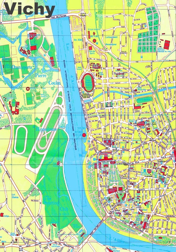 Vichy tourist map Maps Pinterest Tourist map France and City