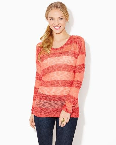 Semi-sheer Burnout Pullover | Tops Sweaters Knit | charming charlie