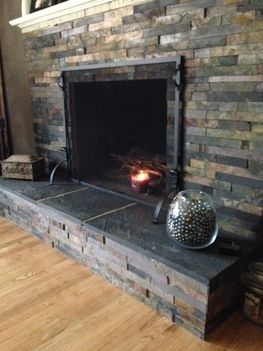 Slate Fireplace  diy ryobination Projects for the Home