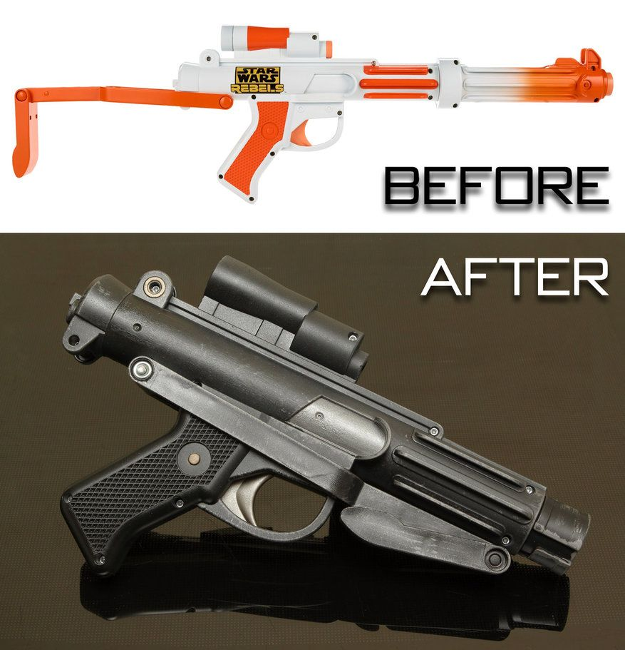 My latest Nerf repaint, this time the Star Wars Rebels Stormtrooper  Blaster. Truth be told, the base gun is pretty poor. It looks unbalanced  with the barrel ...