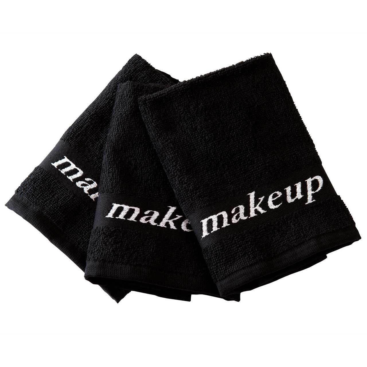 Black Makeup Washcloths. These Turkish Cotton black makeup