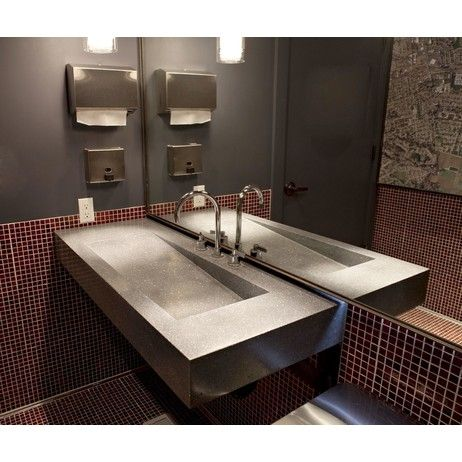 Sloping Sink Slope Sink By Concreteworks Diy Bathroom Remodel
