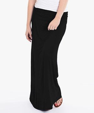Love this Black Maxi Skirt by Fame Fashion  on #zulily! #zulilyfinds