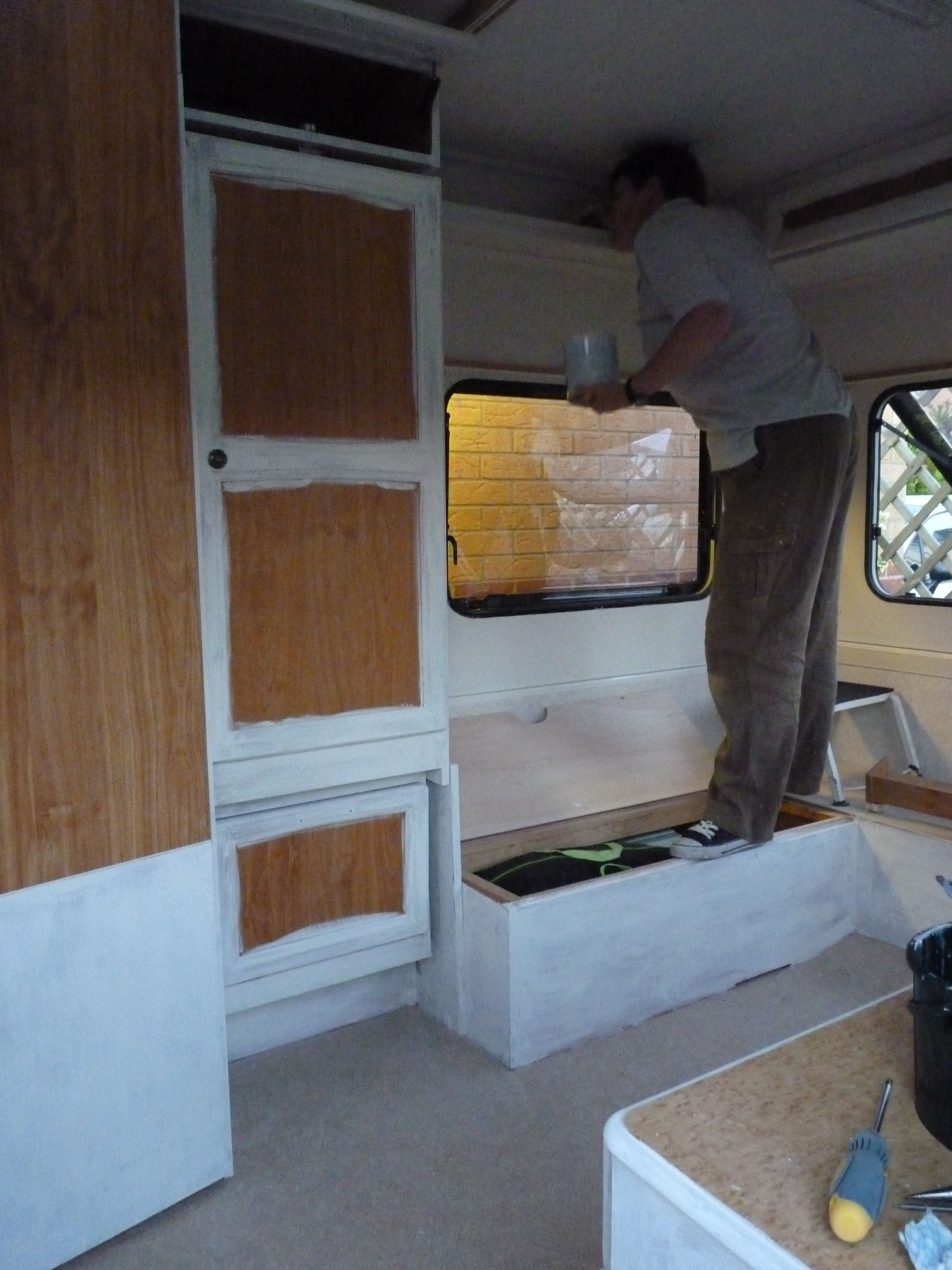 Painting With Annie Sloan Chalk Paint Caravan Makeover Camper Van Conversion Diy Caravan Interior