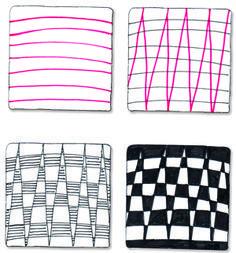 Zentangle Patterns Step by Step   Easy Zentangle Patterns Zag